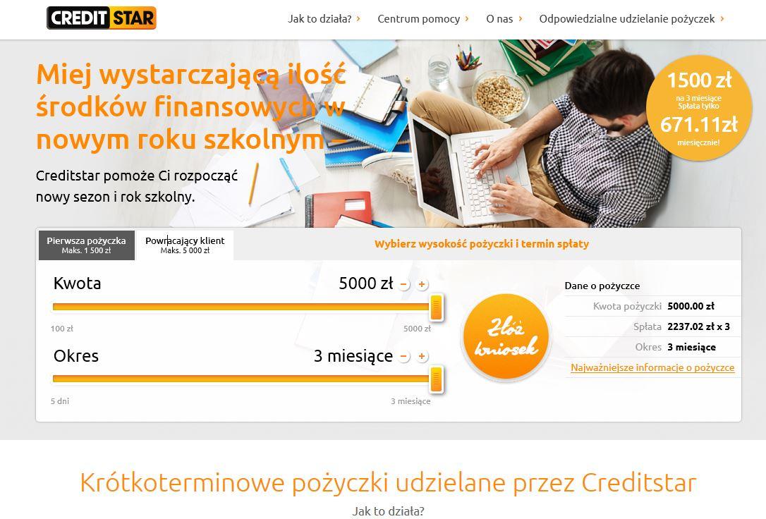 Pożyczka CreditStar
