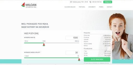 Pożyczka Miloan opinie
