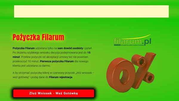 Pożyczka Filarum Barlinek  zadzwoń 600 111 551